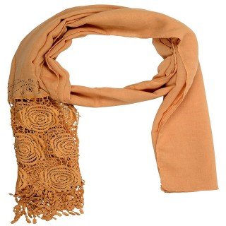 Lace cotton Diamond Stole- Brown