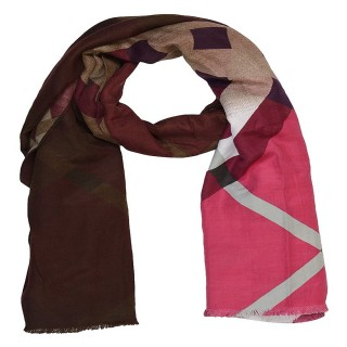 Pinkish Maroon Color- Cotton Shaded Stole