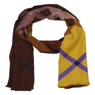 Cotton Shaded Stole - Brownish Yellow