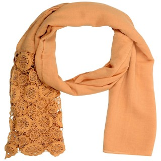 Half Net Diamond Stole- Light Brown