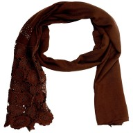 Half Net Diamond Stole- Coffee