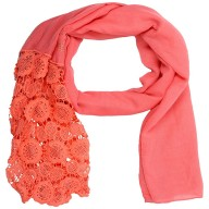 Half Net Diamond Stole- Rose Pink