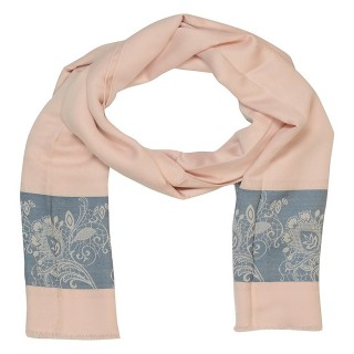 Silk Border Stole-Pink Color
