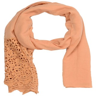 Designer Half Net Diamond Stole- Beige Brown