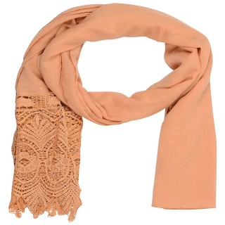 Designer Half Net Stole- Brown