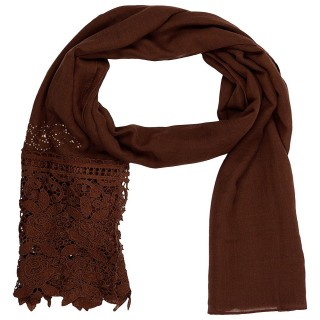 Designer Net Stole- Brown