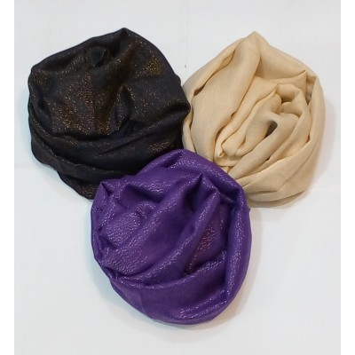 Combo Offer- Rich Shimmer Plain Glitter Stole