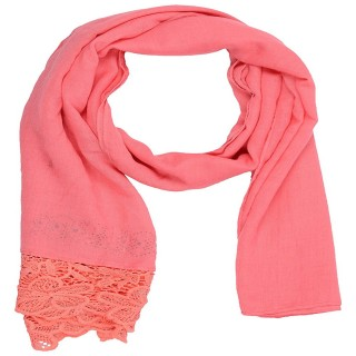 Designer Cotton Plain Women's Stole - Rose Pink