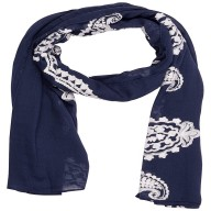 Cotton Printed Stole - Royal Blue