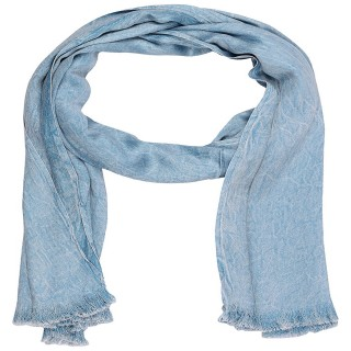 Satin Shaded Stole - Blue