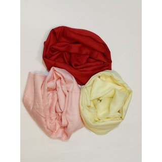 Combo Rayon Stole- Dark Red|Premium Yellow|Light Peach