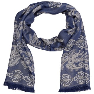 Designer Cotton Stole - Blue
