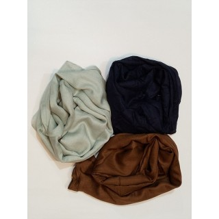 Combo Rayon Stole- Navy  Blue | Premium  Grey| Pearl Brown