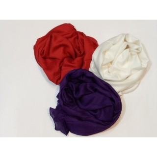 Combo Rayon Stole -White |Purple| Red