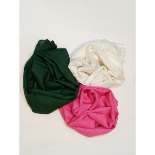 Combo Rayon Scarf - White|Green| Pink