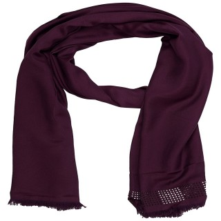 Cotton Plain Stole - Purple