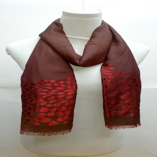 Premium Red Stole- Brasso Fabric