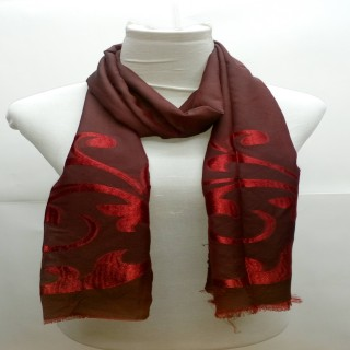 Heavy Brasso Stole- Brownish Red