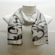 Heavy Brasso Stole- Silverish Grey