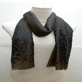 Heavy Brasso Stole- Black Color