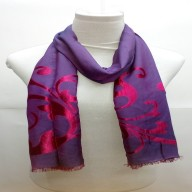 Heavy Brasso Stole- Purple