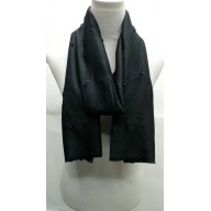 Cotton Plain Stole - Black