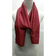 Cotton Plain Stole - Maroon