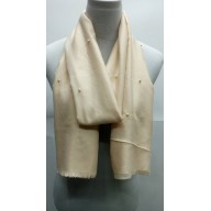 Cotton Plain Stole - White