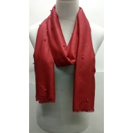 Plain stole in red cotton fabric