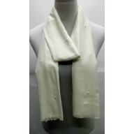 Cotton Plain Stole - Swan White