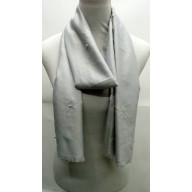 Cotton Plain Stole - Grey