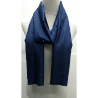 Cotton Plain Stole - Indigo