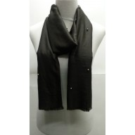 Cotton Plain Stole - Dark Brown