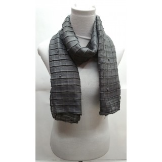 Cotton Crush Stole - Grey