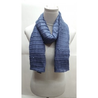 Cotton Crush Stole - Blue