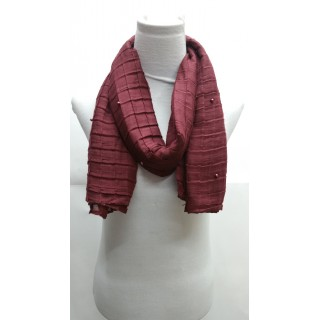 Cotton Crush Stole - Maroon