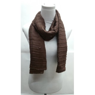 Cotton Crush Stole - Coffee Brown