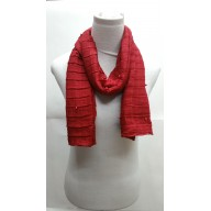 Crush stole in red cotton fabric