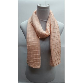 Cotton Crush Stole - Peach