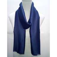 Cotton Plain Glitter Stole - Navy Blue