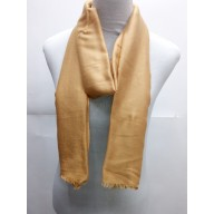 Cotton Plain Glitter Stole - LIght Brown