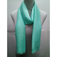 Cotton Plain Glitter Stole - Mint Green