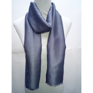 Cotton Plain Glitter Stole -Grey