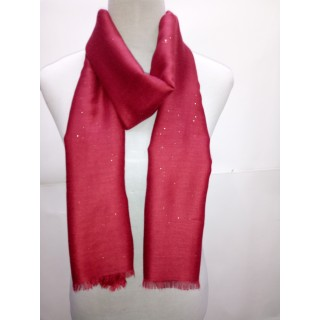 Cotton Plain Glitter Stole - Maroon