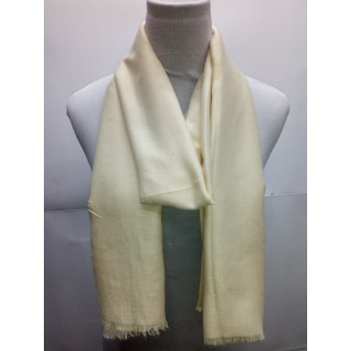 Cotton Plain Glitter Stole - Pearl White