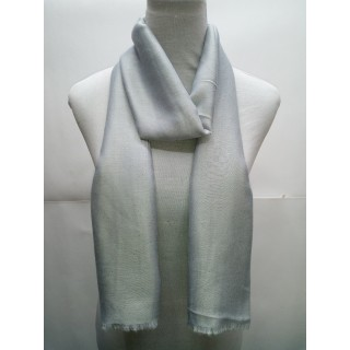 Cotton Plain Glitter Stole - Fossil Grey