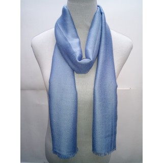 Cotton Plain Glitter Stole - Sky Blue