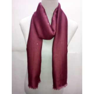 Cotton Plain Glitter Stole -Light  Maroon