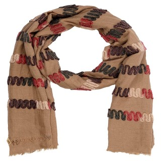 Cotton Chain Work Stole - Light Brown