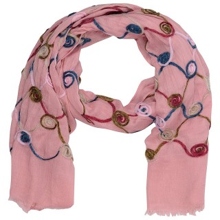Cotton Chain Work Stole - Light Pink